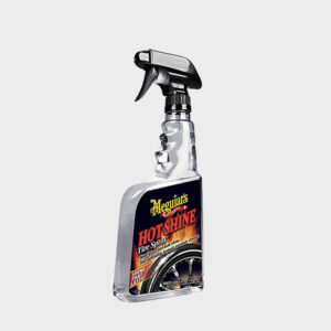 abrillantar neumaticos meguiars hot shine