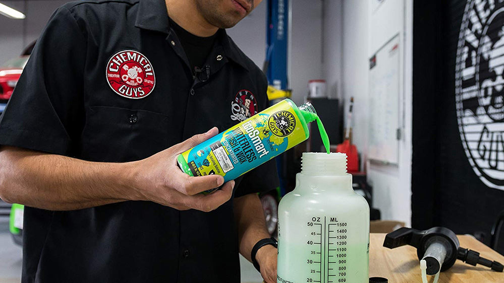 limpieza seco coche chemical guys ecosmart waterless concentrated