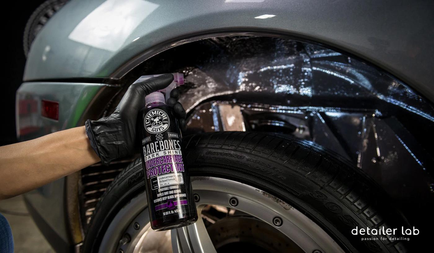 limpiar pasos de rueda y llantas del coche