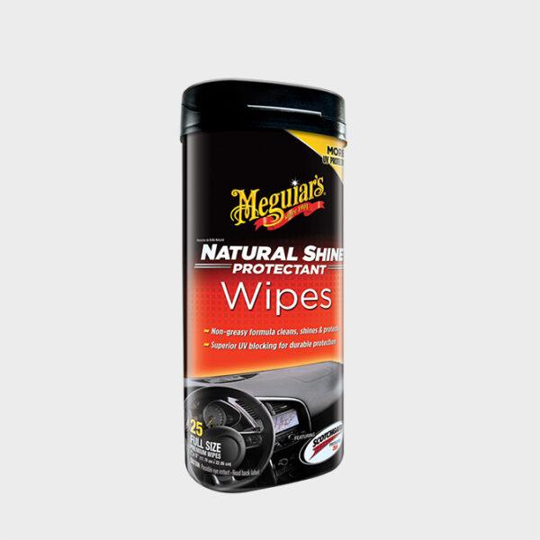 toallitas para el coche meguiars natural shine protectant