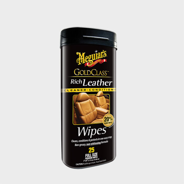 toallitas cuero meguiars gold class rich leather