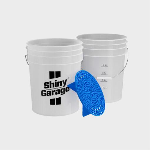cubo shiny garage 20 litros grit guard azul