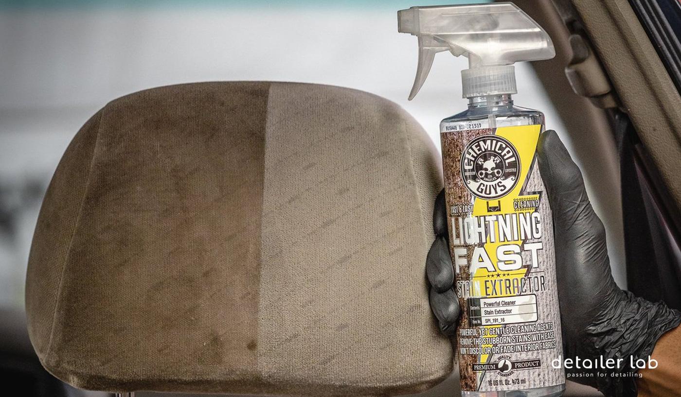 limpieza de la tapiceria del coche en seco