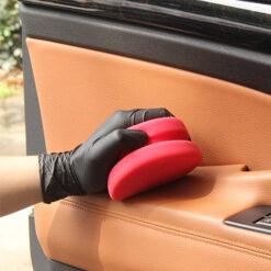aplicador espuma cuero coche