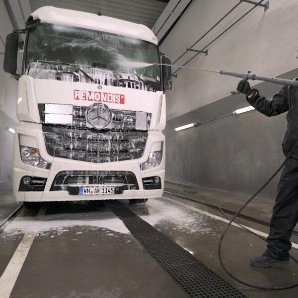 limpiador camiones vehiculos industriales