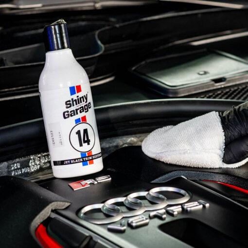 shiny garage jet black trim restore acondicionador motor